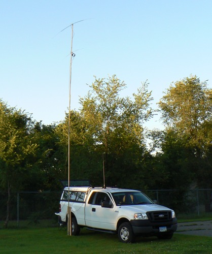 40 meter Hamstick dipole and a 6 meter full size dipole.