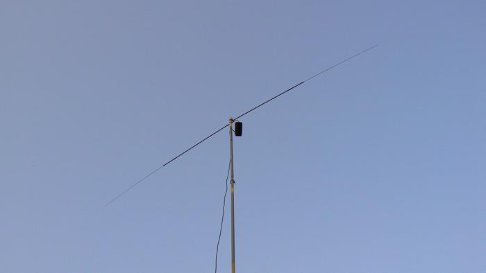 Dipole and balun at thirty feet.